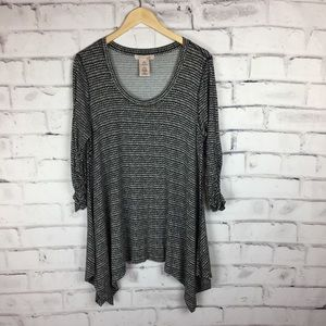 Philosophy black and white print tunic